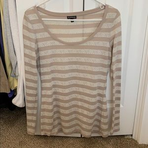 Women's long sleeve striped top